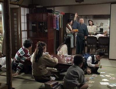 渡鬼第1シリーズ第27回。こどもの日に当時の孫たちが勢揃いした岡倉邸3
